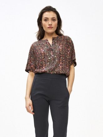bo blouse indian flower multi by-bar