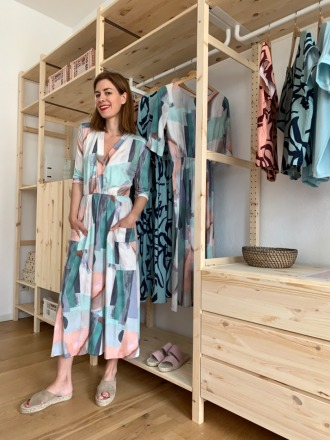 CLAIRE DRESS Jersey Pastell MIO ANIMO