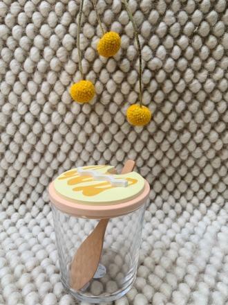 Objet Vague Zuckerglas Skulpture Gelb Hergestellt