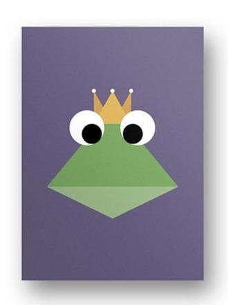 Postkarte Froschkönig - von FräuleinEA