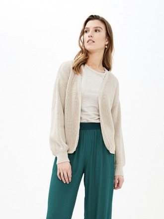 bar cotton cardigan - linen -