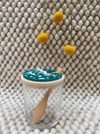 Objet Vague Zuckerglas Skulpture Grün Hergestellt