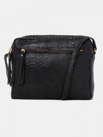 Cubo Shoulder Bag Snake Black by