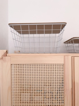 Luhta Home Basket groß Metallinen weiß