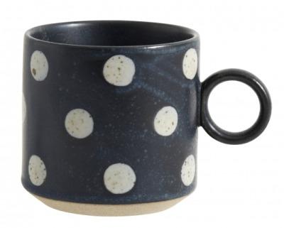 NORDAL GRAINY cup handle dark blue/sand