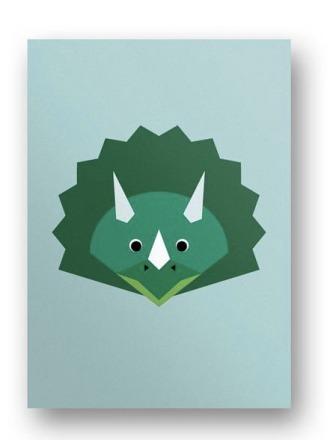 Postkarte Dinosaurier - von FräuleinEA