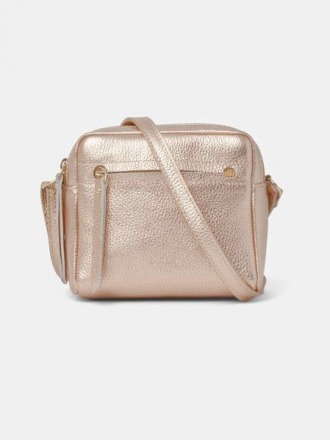 Cubo Mini Shoulder Bag Metallic Rosé