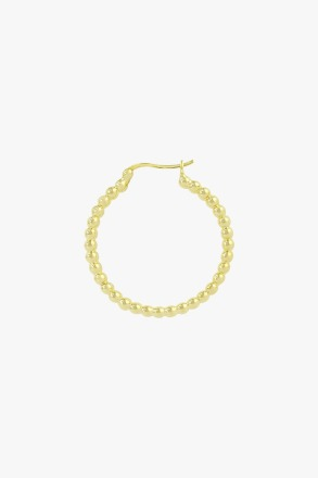 Dots hoop gold plated 30mm wildthings