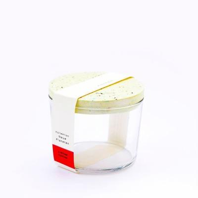 Kräuterglas mit Tarrazzo Deckel gelb von