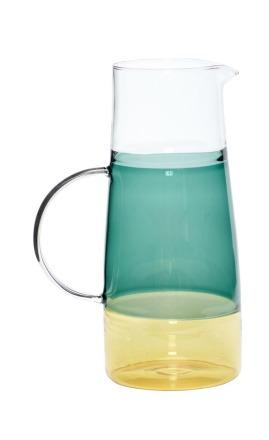 Hübsch Karaffe Glas grün/gelb ONLINE EXCLUSIVE