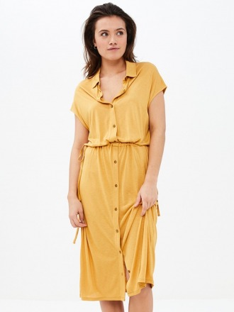 agnes dress - straw - by-bar