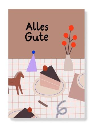 Postkarte - Alles Gute -