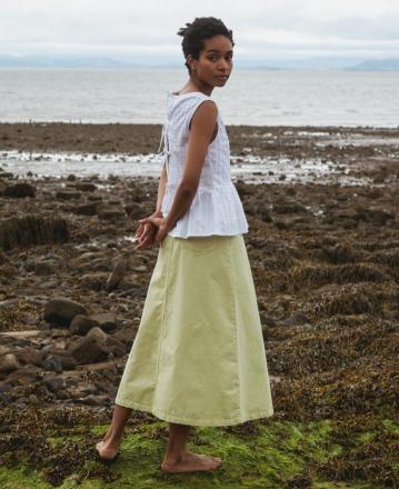 BEAUMONT ORGANIC Shelby Denim Skirt In