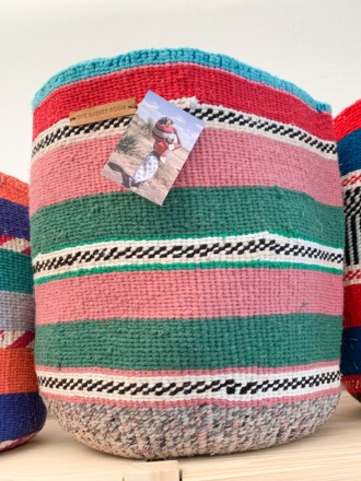 Storage Basket XL Bunt FAIR TRADE