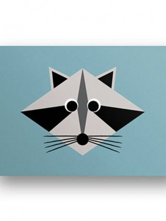 Postkarte Waschbär - von FräuleinEA