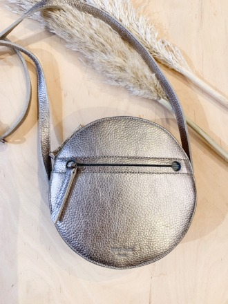Pia Circle Bag Metallic Silver ann