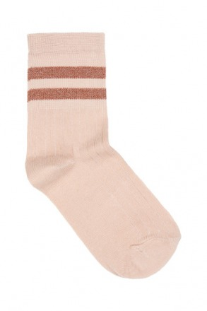 sparkle stripe sock - nude -