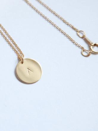 Personalisierte Initialien Kette 14k Gold Filled