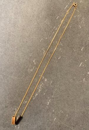 POTIPOTI Accessoires Rainbow Kette black/gold 52cm