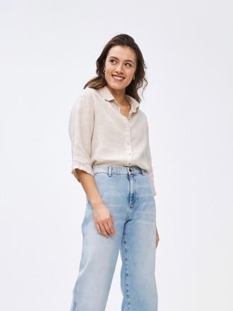 bodil linen blouse - linen -