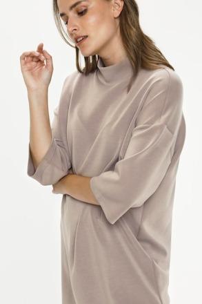 KAFFE KAedana Jersey Tunic Taupe Gray