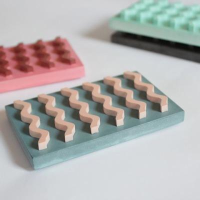 Seifenablage Farben Petrol/Skin VLO Design Hergestellt