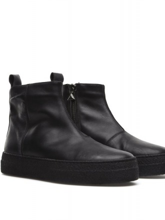 Calf Nero lined with wool Oanon-fashion