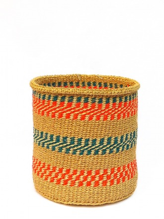 Storage Basket Natur/Rot/petrol FAIR TRADE AND