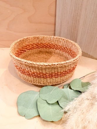 Bread Basket F23 Braun-Orange FAIR TRADE