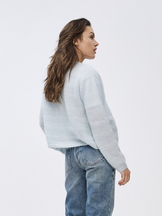 stine cardigan - light cloud -