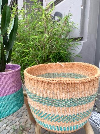 Storage Basket Natur/Grün FAIR TRADE AND