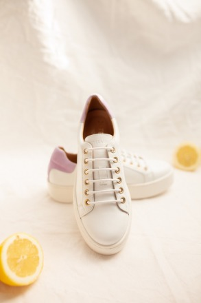 TENNIS SNEAKER - white/lilac - JUTELAUNE
