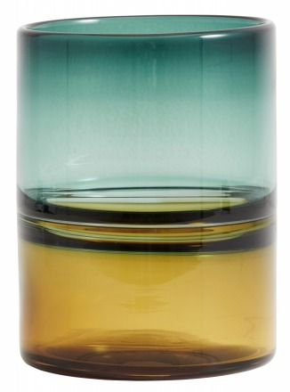 NORDAL Vase color glass amber/turquoise NORDAL