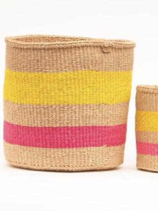 MAZAO Fluoro Pink and Yellow Woven