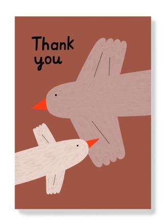 Postkarte - Thank you Vögel
