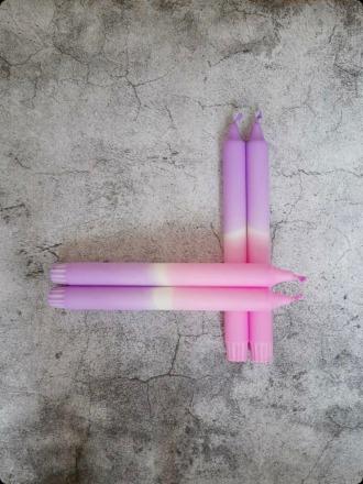 Kerze groß - Purpur-lila - B