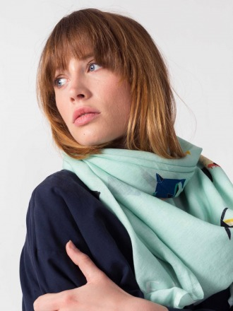 BOGA SCARF Mint by SKFK Ethical