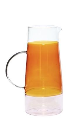 Hübsch Karaffe Glas klar/amber/rosa ONLINE EXCLUSIVE