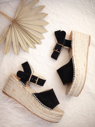 PLATFORM SANDALS black - JUTELAUNE