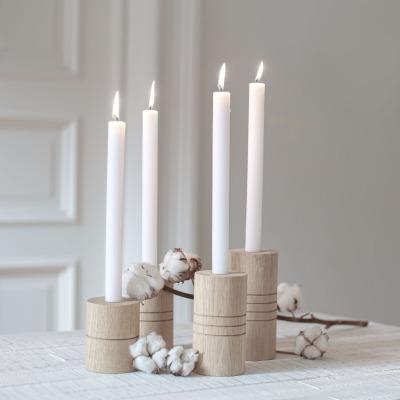 Kerzenständer Advent 4 Stück - Eulenschnitt