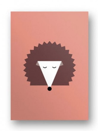 Postkarte Igel - von FräuleinEA