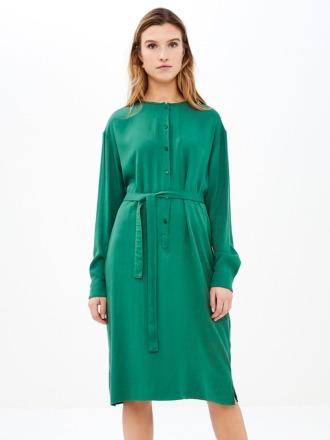bella twill dress - agave -
