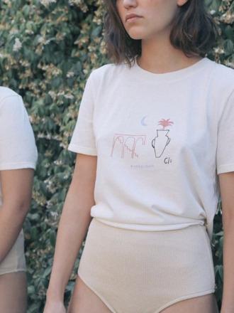 Leonora organic cotton graphic tee Clo