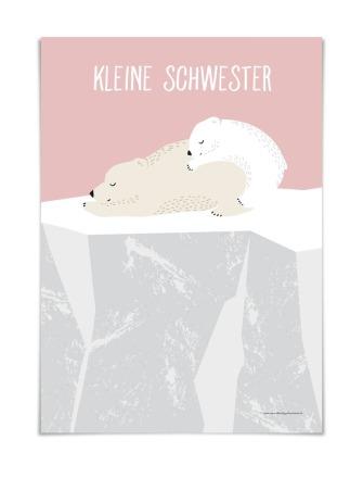 KLEINE SCHWESTER DIN A5 vierundfünfzig illustration