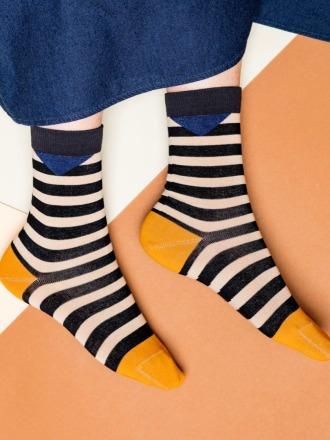 nice socks block stripes sand in