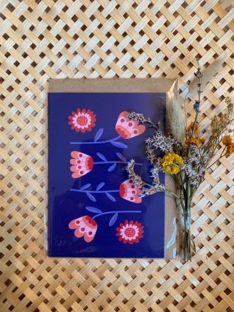 Klappkarte - Blumen