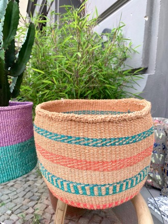 Storage Basket Natur/Grün FAIR TRADE AND