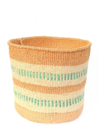 Storage Basket Natur/Beige/grün FAIR TRADE AND