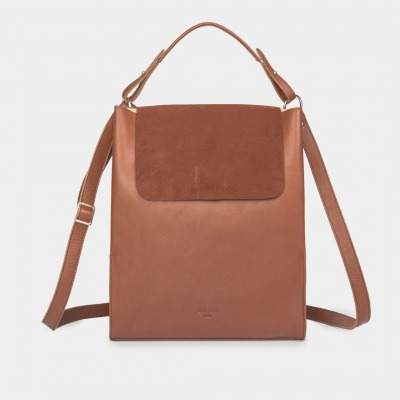 Alex Laptoptasche Nappa/Suede Sienna Brown by