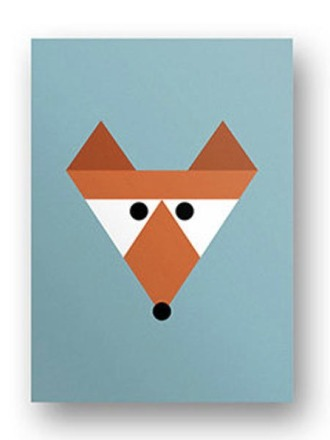 Postkarte Fuchs - von FräuleinEA
